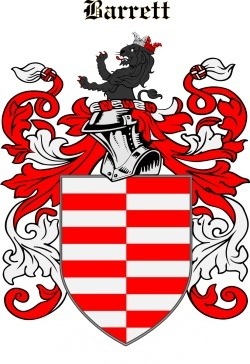 BARRETT family crest