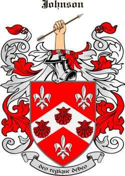 JOHNSON family crest