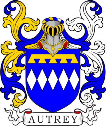 AUTREY family crest