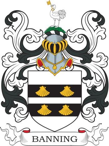 Banning family crest