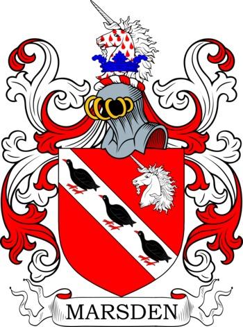 MARSDEN family crest