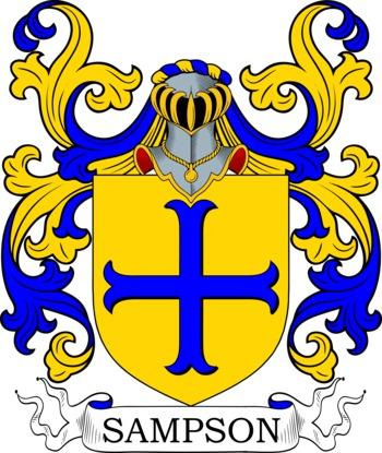 SAMPSON family crest