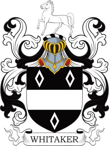 WHITAKER family crest