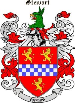 Stuart family crest